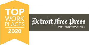 Winner of Detroit Free Press Top Workplaces 2020